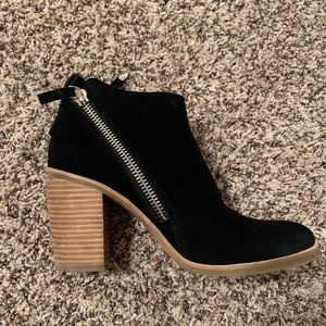 Double zipper heeled bootie by Dolce Vita